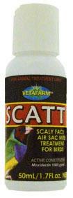 Scatt 50ml pre exot. vtáctvo, proti roztočom