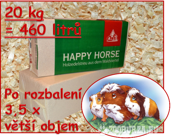 Podestýlka/hobliny bezprašné z Rakouska 20kg 450 l