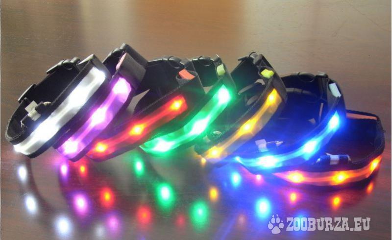 Svietiaci LED obojok pre psy a mačky
