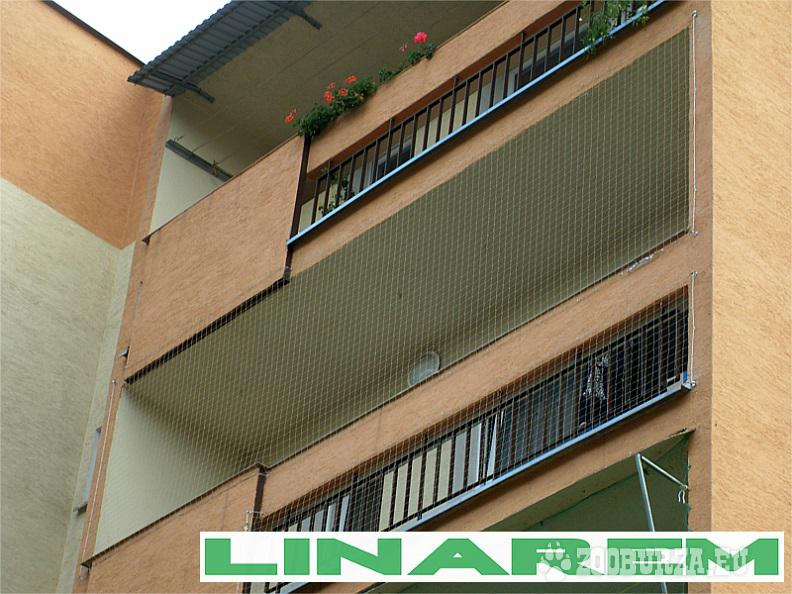 Montaż siatki ochronnej na balkon.