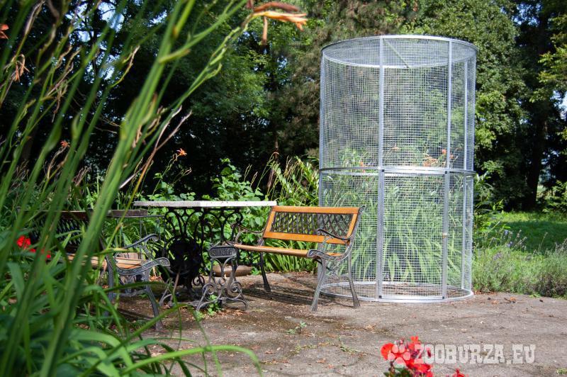 Záhradná kruhová voliéra aj s dovozom.