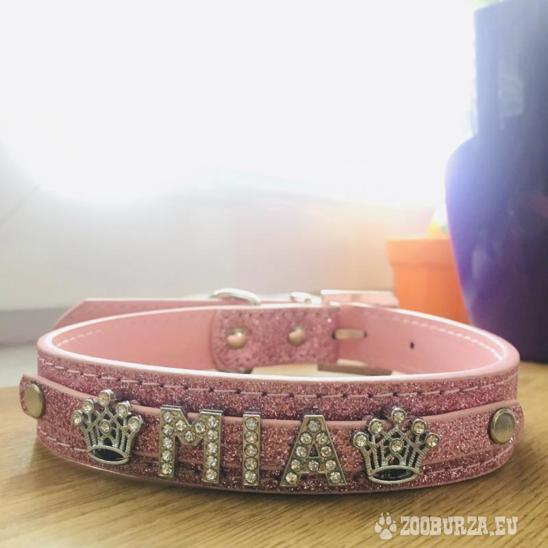 Obojok s menom podľa priania - v ružovej farbe